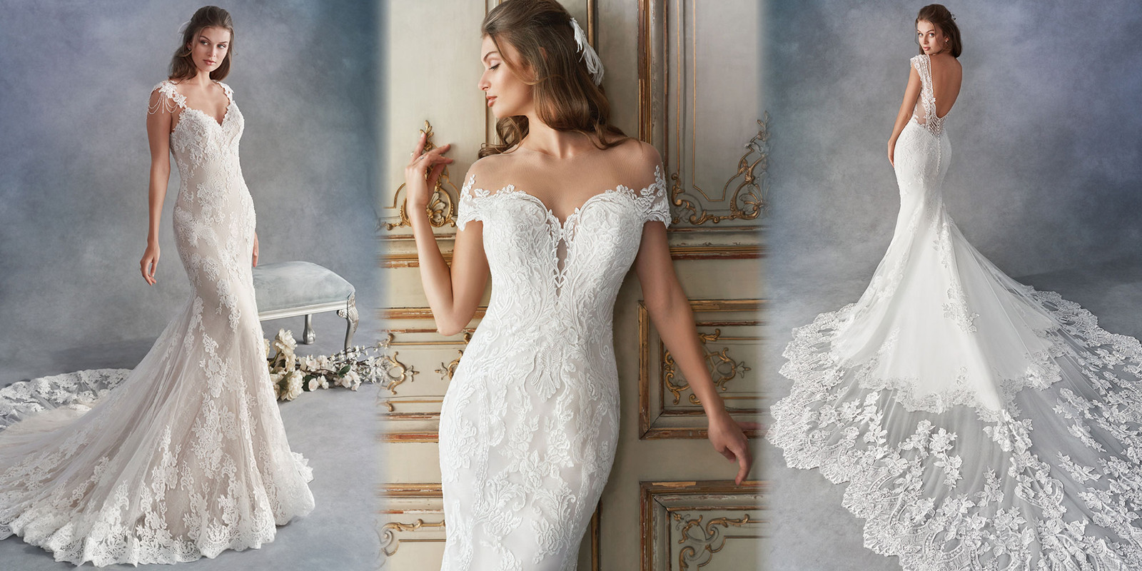 Lace Detailing & See-through Designs in Bridal Fashion